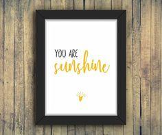 You are sunshine | Poster A3 e A4 #poster #quadro #pôster #decoração #decoraçãocriativa #ilustração #inspiração #arte #criativo #criatividade