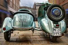 visiting old, learn new — doyoulikevintage:   SIDECAR vespa