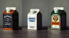 Jack Daniels and Absolut in Milk Cartons