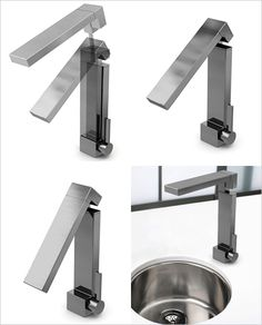 Folding tap .. reckon you could push under the bench too!