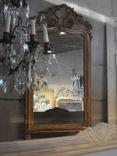 mirror and chandelier...