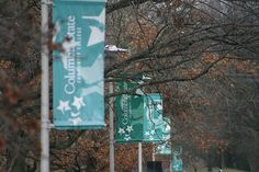 Columbia State Community College Banners - Columbia campus. Photo taken by our student intern, Eric Creel.