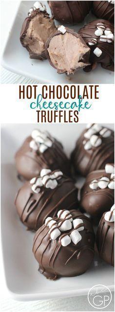 Hot Chocolate Cheesecake Truffles #truffles #dessert #hotchocolate #cheesecake