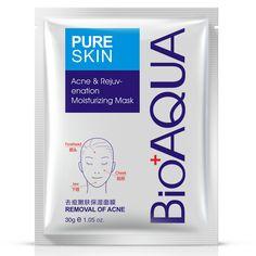 BIOAQUA Akne-behandlung Gesichtsmaske Effektive Haarentfernung Akne Gesichtsmaske Feuchtigkeit Pflegeöl Steuer Maske Blatt Für Mann/Frau