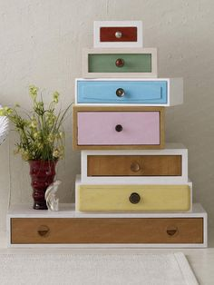 furniture from old drawers Diy Furniture Plans, Recycled Furniture, Furniture Making, Furniture Makeover, Painted Furniture, Furniture Design, Home Design, Home Interior Design, Interior Ideas