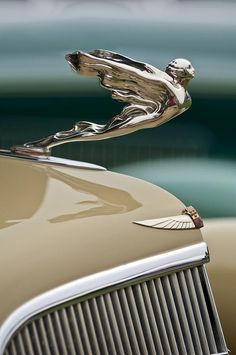 1934 Cadillac Hood Ornament #Chrome #VinylWraps #Rvinyl  Use Code CHROME for 25% Off Until 11.11.14 at http://www.rvinyl.com/Chrome-Vinyl-Film-Wraps.htm