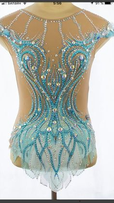Ice Skating Dresses, Rhythmic Gymnastics Leotards, Ballroom Dancing, Dance Outfits, Figure Skating, Costume Design, Dance Wear, Skate, Light Blue