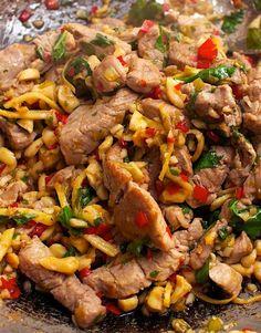 Low FODMAP Recipe and Gluten Free Recipe - Stir Fried Chilli Pork http://www.ibssano.com/low_fodmap_chilli_pork.html