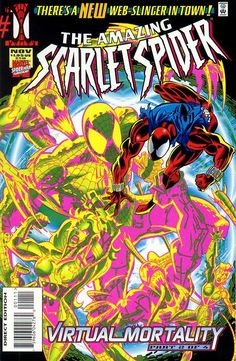 Amazing Scarlet Spider # 1 by Mark Bagley & Larry Mahalstedt