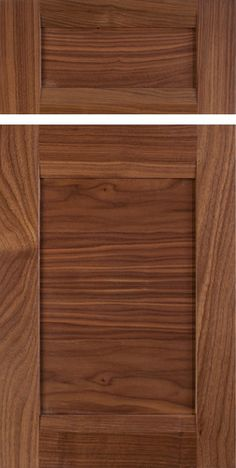 mitered cabinet door in select walnut with clear finish contemporary
