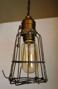 early 1900's caged light