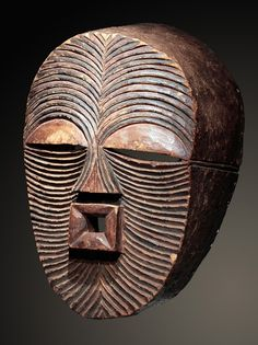 Luba or Songye kifwebe mask Portrait Sculpture, Art Sculpture, African Sculptures, Sculptures Céramiques, Arte Popular, African Masks, African Art, Ceramic Mask, Art Tribal