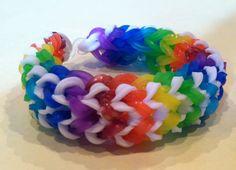 Rainbow Loom bracelet Tire Tracks Rainbow Loom - Please Follow and Repin!