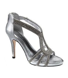 Blinged out wedding shoes  Available at Dillards.com #Dillards