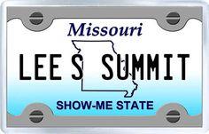 $3.29 - Acrylic Fridge Magnet: United States. License Plate of Lee's Summit Missouri