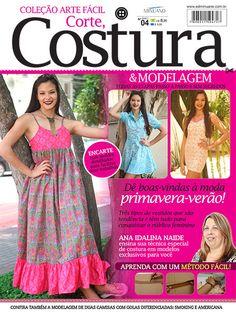 Artesanato - Tecidos - Corte Costura : COL ARTE FACIL CORTE COSTURA E MODELAGEM 004 - Editora Minuano