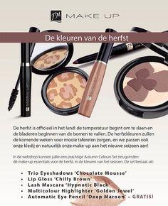 Mooie make-up set met de kleuren van de herfst Bestellen en info via info@perfumeofdreams.nl