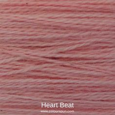 A ColourSpun Pure Cotton yarn and embroidery thread colour swatch. This colour is called Heart Beat Colour Swatches, Super Chunky Yarn, Fabric Yarn, Heart Beat, Embroidery Thread, In A Heartbeat, Fabric Design, Weaving, Cotton
