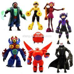 New Set of 8 Pcs Big Hero 6 Movie Character Action Figures Baymax Kids Toy Dolls Big Hero 6, Spongebob Superhero, Toys For Girls, Kids Toys, Ben 10 Action Figures, Hero 6 Movie, Doll Toys, Dolls, Cool Lego Creations