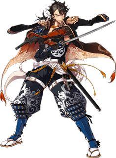 Keep Calm & Love Bishie Fantasy Heroes, Fantasy Characters, Anime Characters, Fantasy Character Design, Character Concept, Character Art, Character Ideas, Samurai Art, Samurai Swords