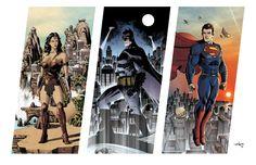 Gotham's Art — DC Trinity by Ian-Navarro Justice League Funny, Justice League Characters, Justice League Unlimited, Superman And Lois Lane, Batman Vs Superman, Dc Heroes, Comic Book Heroes, Marvel Dc, Disney Marvel