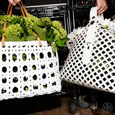 Light and airy: bags inspired by woven baskets #toryspring14 #nyfw