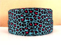 1 inch Leopard Aqua and Hot Pink Animal Print Cheetah - Printed Grosgrain Ribbon for Hair Bow Halloween Ribbon, Pink Animals, Ribbon Hair Bows, Grosgrain Ribbon, Cuff Bracelets, Hot Pink, Aqua, Prints, Flat Rate
