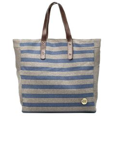My love for stripes and grey captured in a tote.