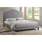 Found it at Wayfair Supply - Marsha Upholstered Scalloped Bed