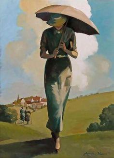 Fine art painter Jacci Osborn has been working in various mediums for over 20 years Umbrella Art, Under My Umbrella, Jacqueline Osborne, English Artists, Figurative Art, Female Art, Cool Art, Art Drawings, Sculptures