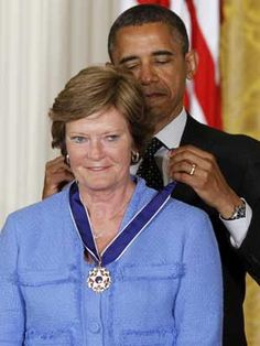 Pat Summitt...Sorry such a winner had to have this medal put on by such a loser.