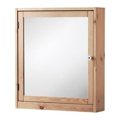 IKEA - SILVERÅN, Mirror cabinet, light brown, , You can mount the door to open from the right or left.Perfect in a small bathroom.The mirror comes with safety film on the back, which reduces the risk of injury if the glass is broken.