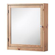 SILVERÅN Armoire à portes miroir, brun clair brun clair 60x14x68 cm