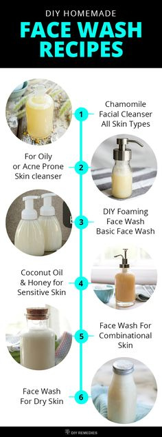 DIY Natural Face Wash Recipes  Here are some best natural face wash recipes that are meant for every skin type. Try them according to your skin type and use it regularly to enhance your beauty naturally.  #DIYRemedies #FaceWash