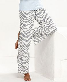 Alfani Pajama Pants, Printed Flannel Pajama Pants - Womens Lingerie - Macy's