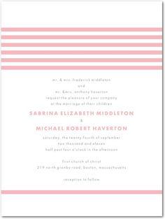 Letterpress Wedding Invitations - Modern Stripes by Wedding Paper Divas