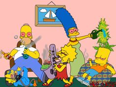 The Simpsons partaking in the Cannabis/Weed Humor! Stoner Humor, Weed Humor, Image Simpson, Funny Weed Pictures, Funny Pics, Rauch Fotografie, Medical Marijuana, Stoner Girl, Smoke Weed