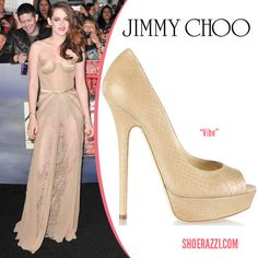 Shay Mitchell in Jimmy Choo Anouk Mirrored Leather Pointed-Toe Pumps ... 7bf881ff7f0