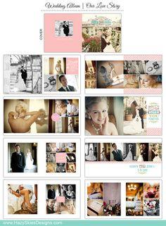 Love Love Love it!!! Wedding Book Album Template for Photographers von hazyskiesdesigns, $35.00