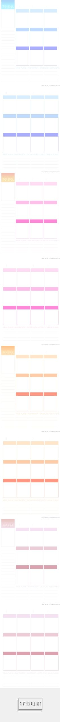Planner101: Free printable page layout (Erin Condren inspired) | Beautify 101 - created on 2015-09-30 00:34:38
