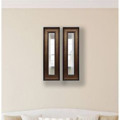 Rayne Bronze and Black Mirror Panel, Set of 2