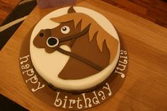 lauralovescakes...: A Birthday Cake for Horse Lovers...