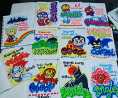 #marcamostuscuadernos - rania_detalles Cool School Supplies, Diy And Crafts, Arts And Crafts, School Notebooks, Decorate Notebook, My Notebook, Too Cool For School, Caligraphy, Copic