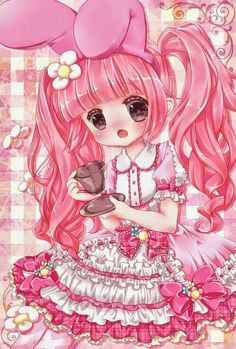 Pink bunny love