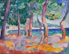 Henri Manguin, Pinède à Cavalière, 1906 huile sur toile, 65x81 cm
