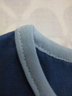 Einfassstreifen für Shirts mit Schrägbandformer