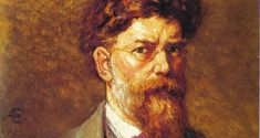 "George Russell (AE) Self Portrait, 1923: ""AE was well ahead of his time as it is only in recent decades that an inclusive attitude to the past has prevailed. He also acknowledged the role of women in the Rising, but without the condescension of Yeats"""