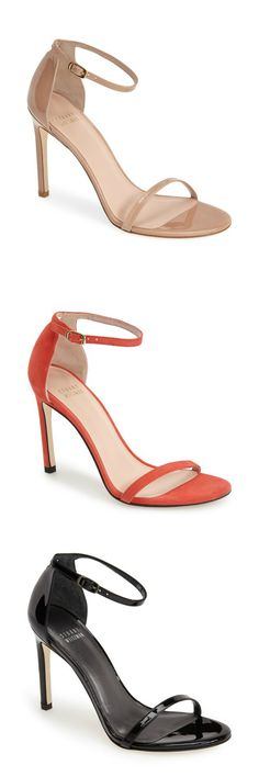 This Stuart Weitzman sandal goes with everything! It s the perfect heel  height, is flattering 148d1285e91e