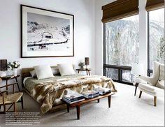 www.cotedetexas // I like the coziness of white,wood and fur