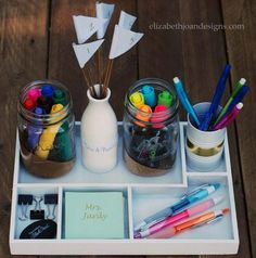 DIY Teacher Desk Organization StationDIY Teacher Desk Organization Station